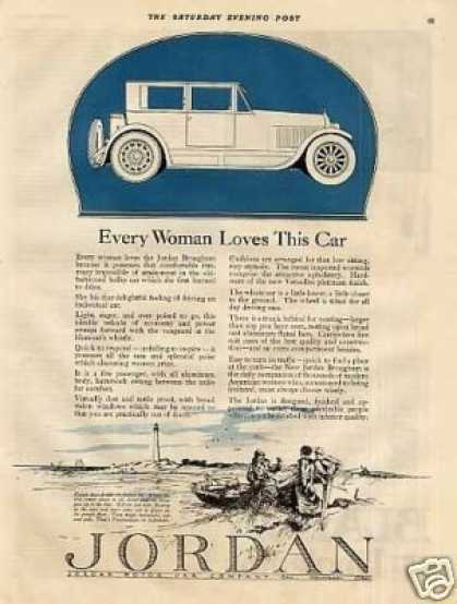 "Jordan Brougham Car Ad ""Every Woman Loves... (1922)"