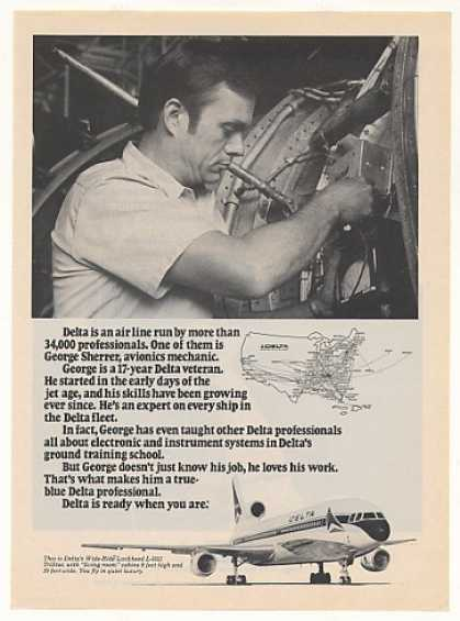 Delta Airlines Avionics Mechanic George Sherrer (1979)