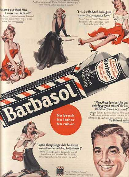 Barbasol's Cream for Modern Shaving (1952)