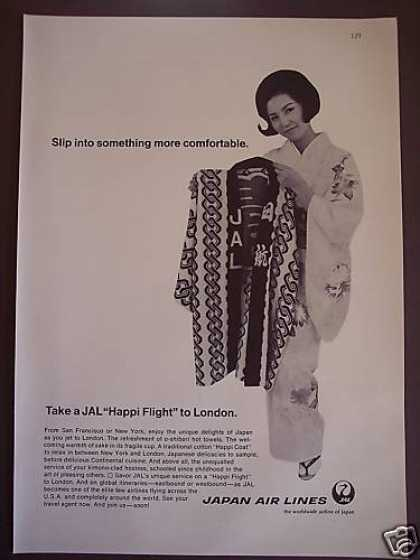 Jal Happi Flight To London Airline of Japan (1967)