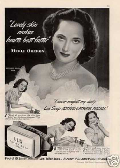 Lux Soap Ad Merle Oberon (1942)
