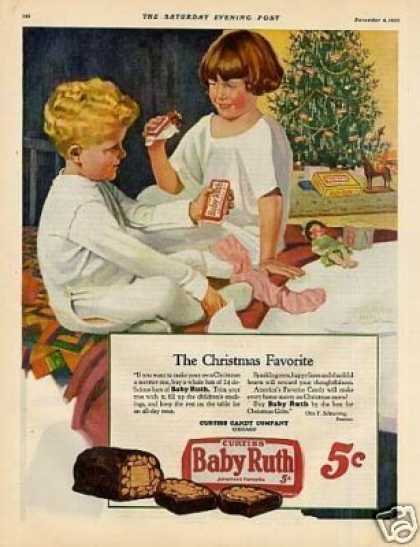 Curtiss Baby Ruth Candy Ad Norman Hall Art (1926)