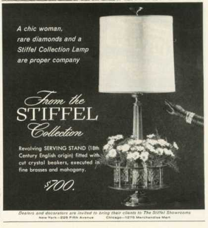 Stiffel Collection Lamp Serving Stand (1958)