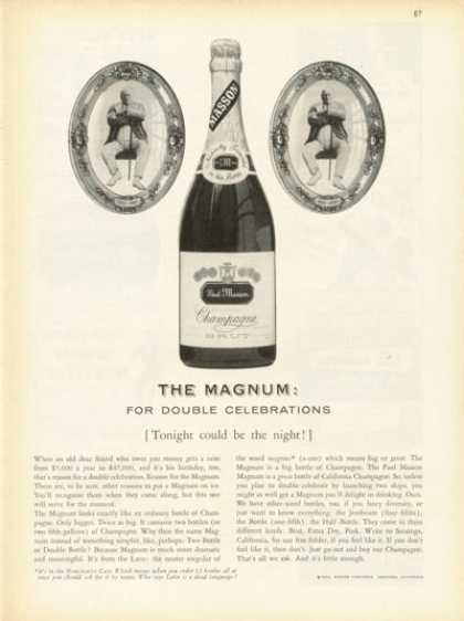 Paul Masson Champagne Bottle (1959)