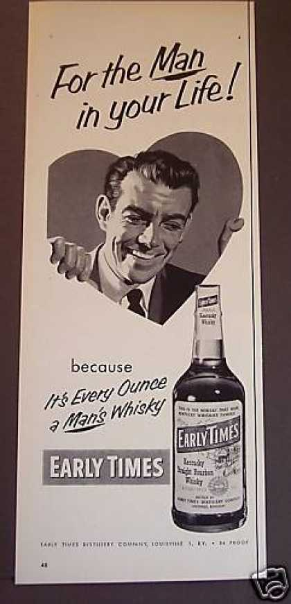 Early Times Kentucky Straight Bourbon Whisky (1953)