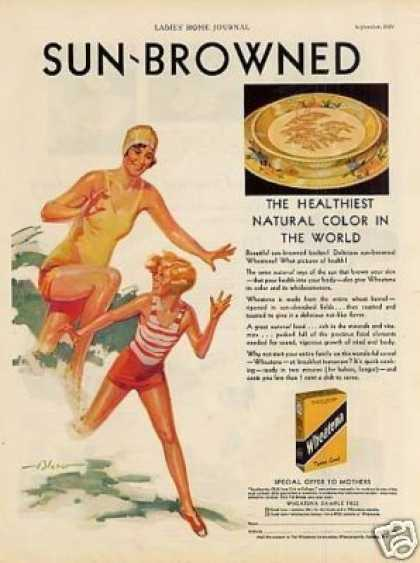"Wheatena Cereal Ad ""Sun-browned... (1929)"