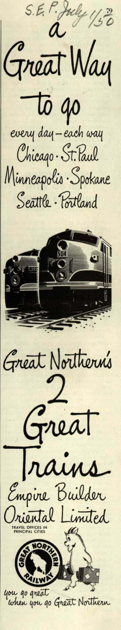 Great Northern Railway's various – a Great Way to go (1950)