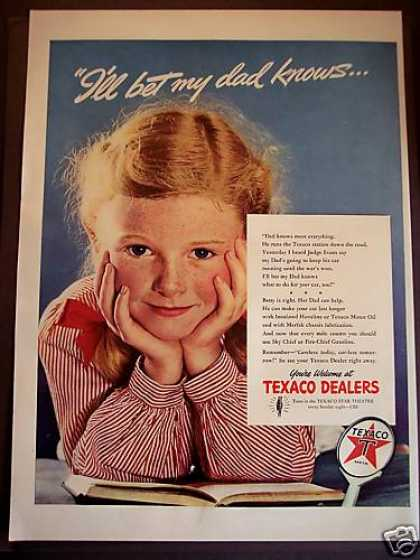 Texaco Fire-chief Gasoline Little Girl (1942)