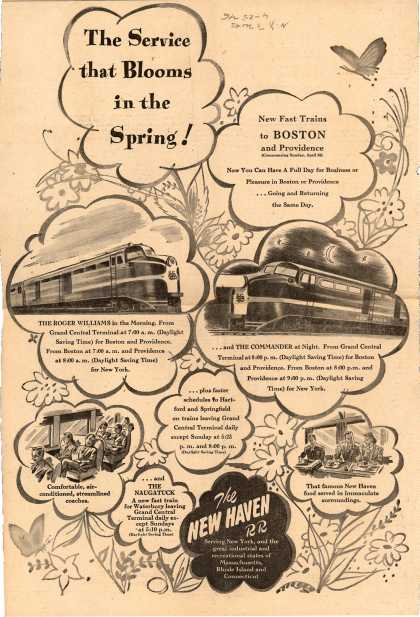 New Haven Railroad's New Haven RR – The Service that Blooms in the Spring (1946)