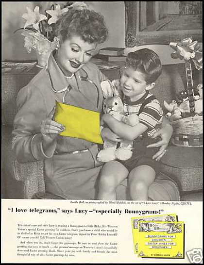 Lucille Ball Photo Western Union Telegram (1957)