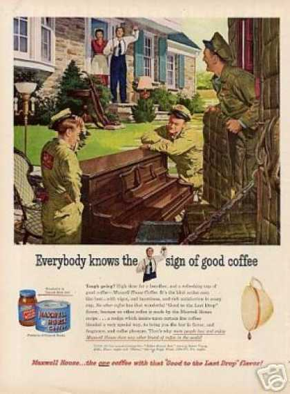 Maxwell House Coffee Ad Movers (1950)