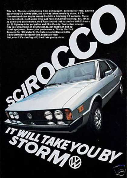 VW Volkswagen Scirocco Photo Print Vintage Car (1976)