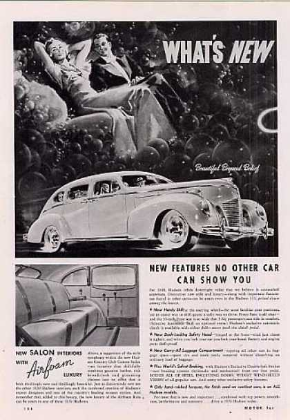 Hudson Car Ad 2 Page (1939)