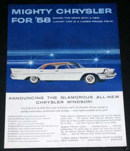 1958 Chrysler Windsor, New (1957)