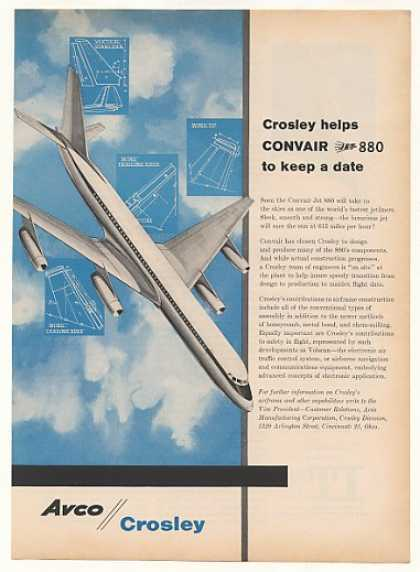 Avco Crosley Convair Jet 880 Aircraft (1958)