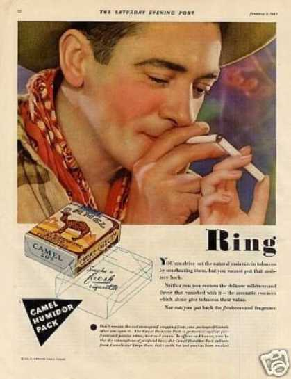 Camel Cigarettes Color Ad 2 Page (1932)