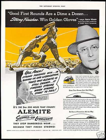 Boxing Golden Gloves Arch Ward Alemite (1941)