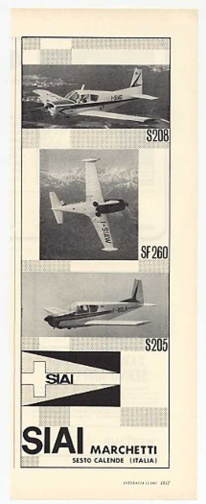 SIAI Marchetti S208 SF260 S205 Airplanes photo (1967)