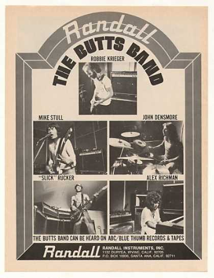 The Butts Band Randall Amps Photo (1976)