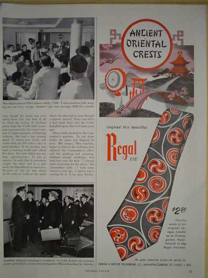 Regal Tie Co Ancient Oriental Crests (1947)