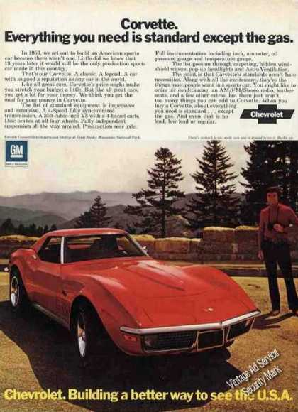 "Chevrolet Corvette ""Better Way To See the Usa"" (1972)"