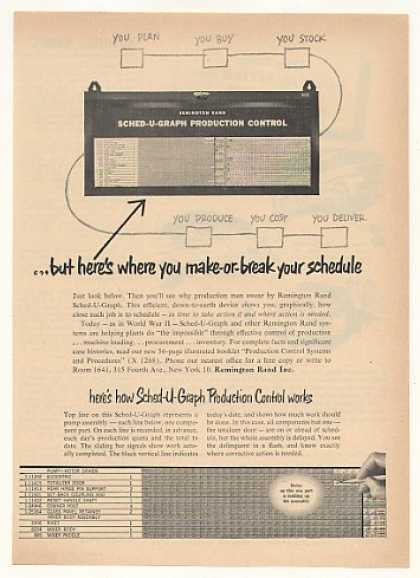 Remington Rand Sched-U-Graph Production Control (1952)