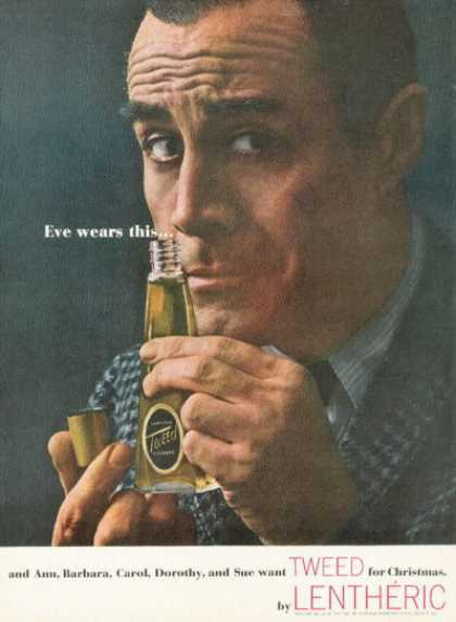 Lentheric Tweed Cologne Bottle (1961)