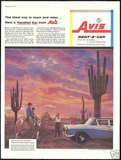 Apache Junction Arizona Ford Avis Rent A Car (1957)