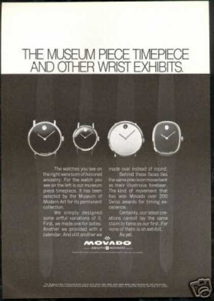 Movado Museum Timepiece 4 Watch Photo (1969)