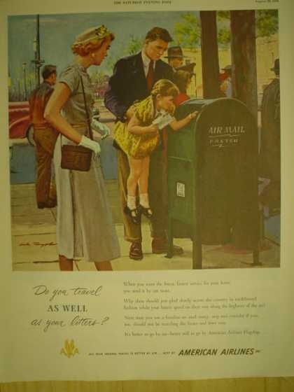 American Airlines. Do you travel as well as your letters (1949)