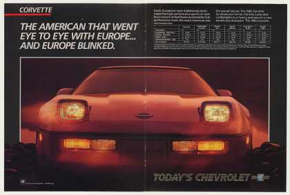 Chevy Corvette Beats Europe USAC Test Double-Pg (1985)