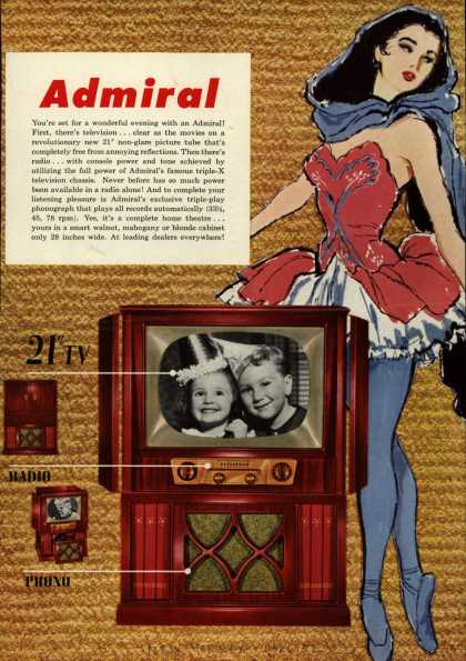 "Admiral Corporation's Television Combinations with 21"" TV – Admiral (1952)"
