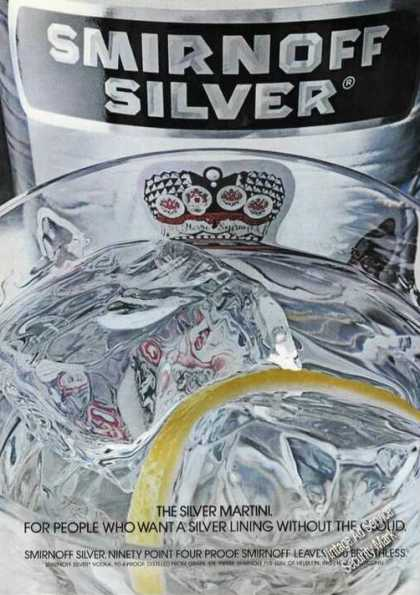 Smirnoff the Silver Martini Nice Color Advertising (1975)