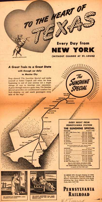 Pennsylvania Railroad's Texas – To The Heart Of Texas (1946)