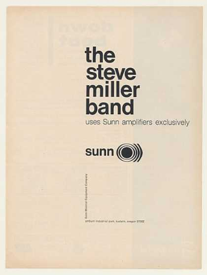 Steve Miller Band Uses Sunn Amps Exclusively (1968)