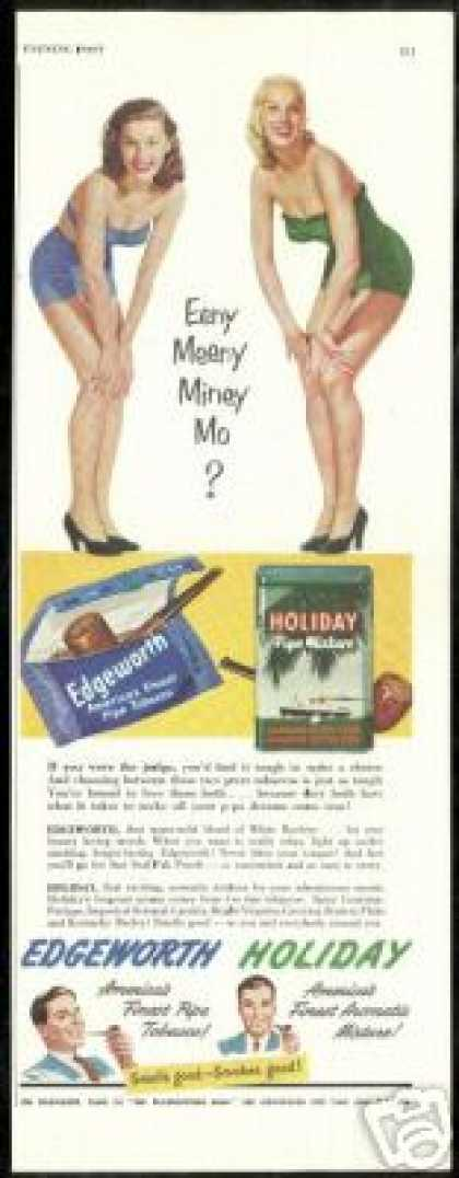 Sexy Blonde Brunette Edgeworth Holiday Tobacco (1951)