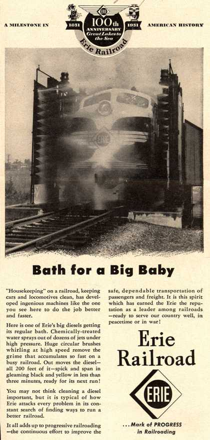 Erie Railroad's Service – Bath for a Big Baby (1951)