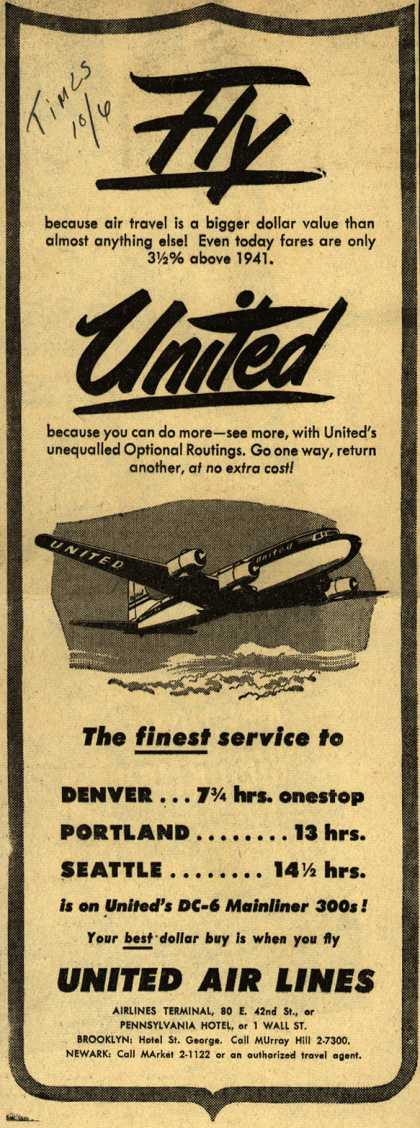 United Air Lines – Fly United (1948)