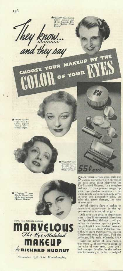 Richard Hudnut Eye Matched Makeup (1936)
