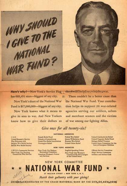 New York Committee National War Fund's National War Fund – Why Should I Give To The National War Fund? (1943)