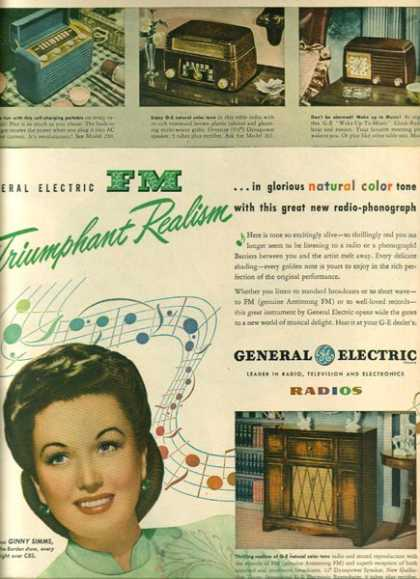 General Electric's Ginny Simms (1947)