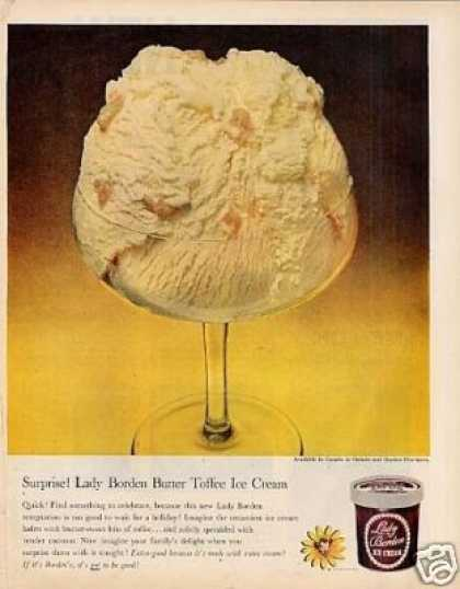 Lady Borden Butter Toffee Ice Cream (1959)