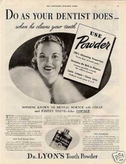Dr. Lyon's Tooth Powder (1935)
