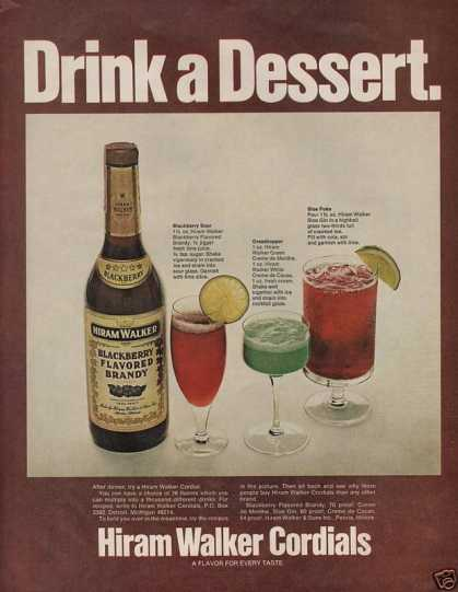 Hiram Walker Cordials Brandy (1972)