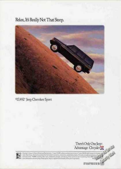 "Jeep Cherokee Sport ""Not Really That Steep"" (1992)"