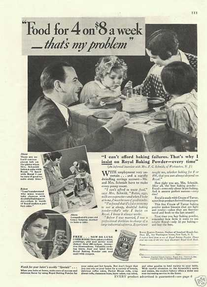 Royal Baking Powder Print (1936)