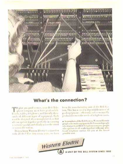 Western Electric – Bell System – Switchboard Operator (1949)