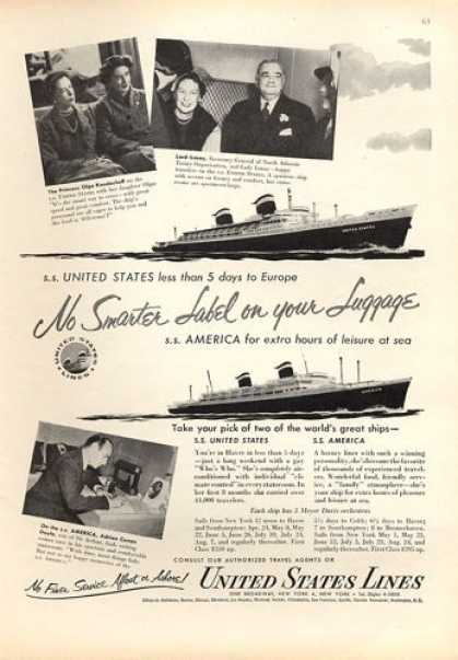 United States Lines Cruise Ship Conan Doyle (1953)