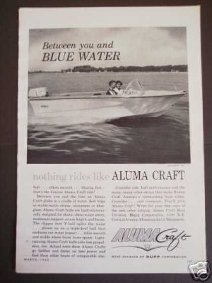 Aluma Craft Monaco 16' Boat Boating Photo (1962)