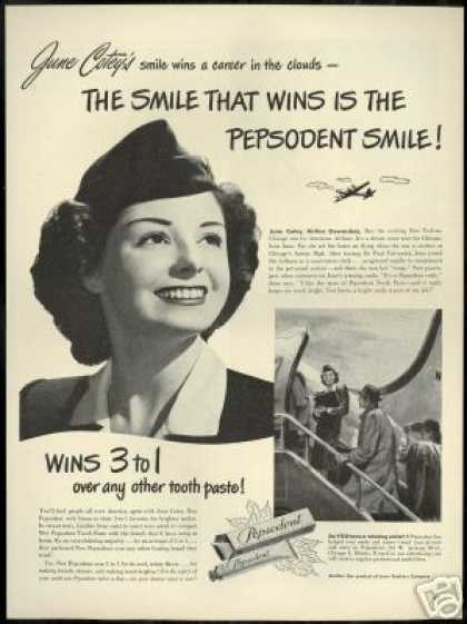 American Airlines Stewardess Pepsodent (1948)
